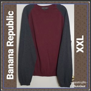 Men's Banana Republic Color Block Sweater XXL